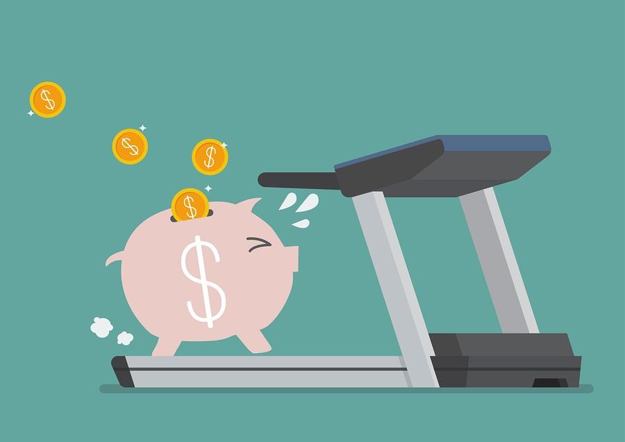 pig on treadmill graphic